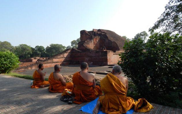 """Sitio arqueológico Nalanda Mahavihara (universidad de Nalanda) en Nalanda, Bihar en India. Está integrado por los vestigios arqueológicos de un gran monasterio (""""mahavihara"""") que llevó a cabo una importante actividad religiosa y docente desde el siglo III a.C. hasta el siglo XIII de nuestra era."""