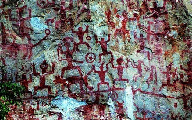 El paisaje cultural de arte rupestre de Zuojiang Huashan está formado por 38 sitios que ilustran la vida y los ritos del pueblo luoyue.