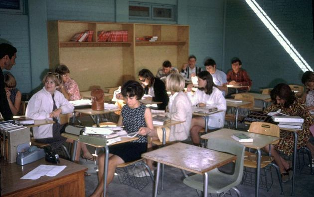 Una clase en la Escuela Internacional Americana de Kabul