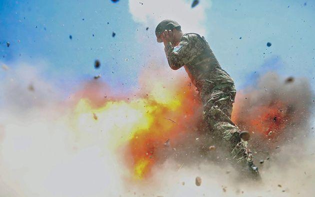 Un tubo de mortero explota accidentalmente, matando a cuatro soldados afganos