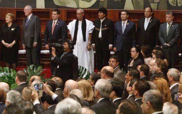 Representantes de países en la ceremonia de cambio de mando