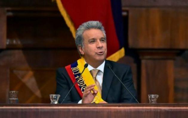 Discurso del mandatario Lenín Moreno y sus promesas para su periodo presidencial