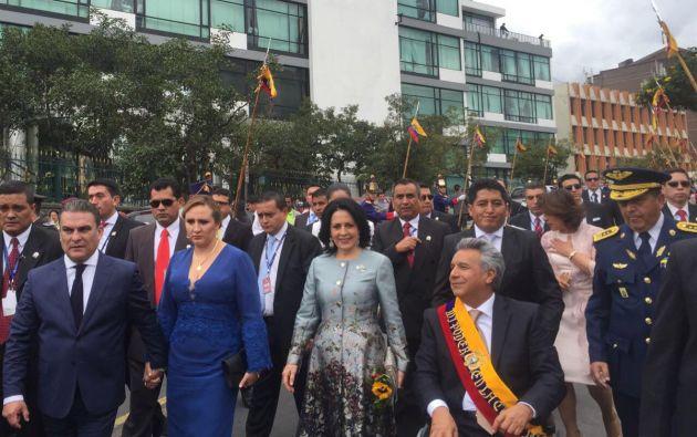 Salida del mandatario Lenín Moreno luego de ser posicionado