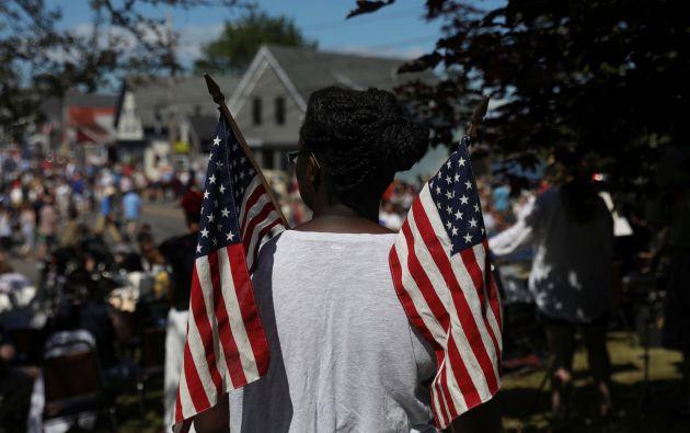 Desfile por el Día de la Independencia en Deer Isle, Maine, Estados Unidos,