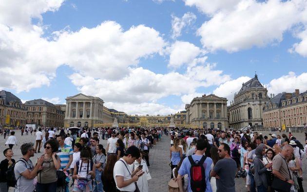 Castillo de Versalles (palacio de Versalles) en Versalles, cerca de París, Francia