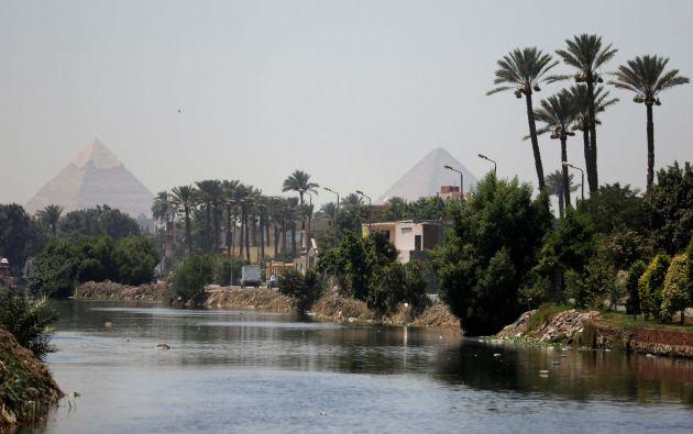 Río Nilo en las afueras de El Cairo