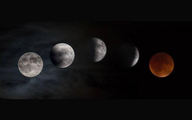 Fases del eclipse de superluna // Centro de Investigación Glenn de la NASA // 2015
