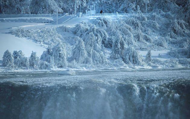 Cataratas del Niágara cubiertas de hielo