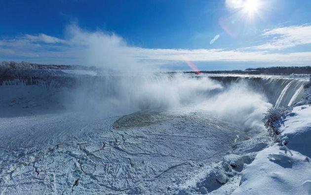 Cataratas del Niágara cubiertas de hielo / Fotos: Reuters