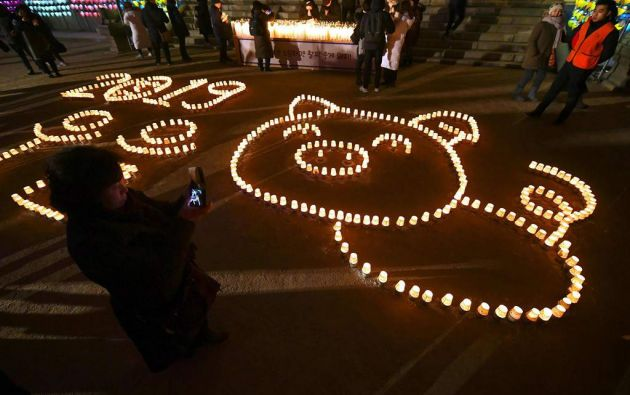 Año Nuevo en Seul. Foto: AFP