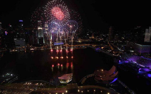 Año Nuevo en Singapur. Foto: AFP.