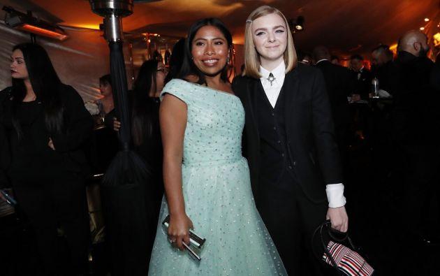 Yalitza Aparicio y Elsie Fisher. Foto: Reuters