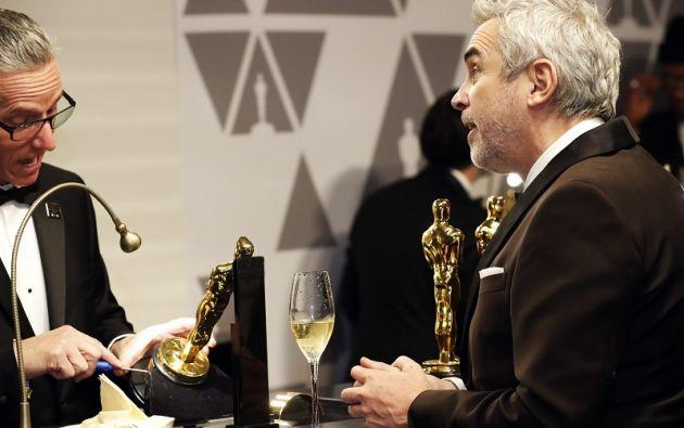 """Alfonso Cuarón espera que le graben los premios """"Mejor Roma"""", Mejor película de lengua extranjera y Mejor cinematografía. Foto: Reuters"""