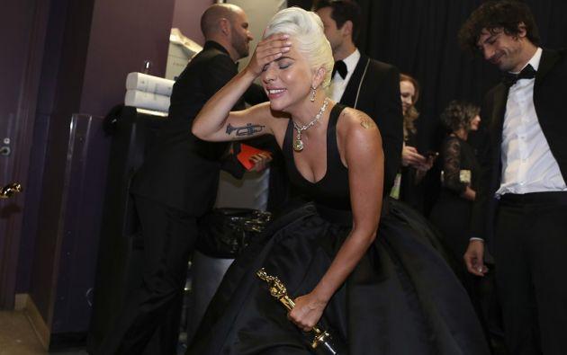 Lady Gaga reacciona. Foto: Reuters