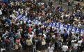 La movilización tuvo réplicas en varios puntos del país, donde se recordó el inicio de la dictadura que dejó unos 30.000 desaparecidos. Foto: AFP