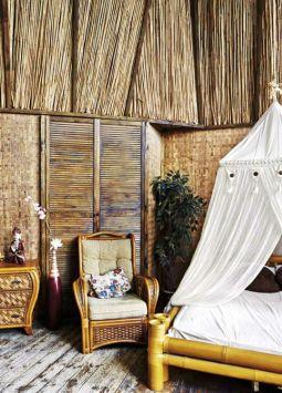 El bambú posee múltiples bondades al momento de decorar; entre ellas su fácil manipulación, elasticidad y durabilidad.