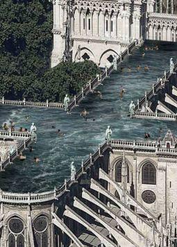 Ulf Mejergren Architects propone esta piscina en lo alto de la Catedral como un espacio público para la contemplación.