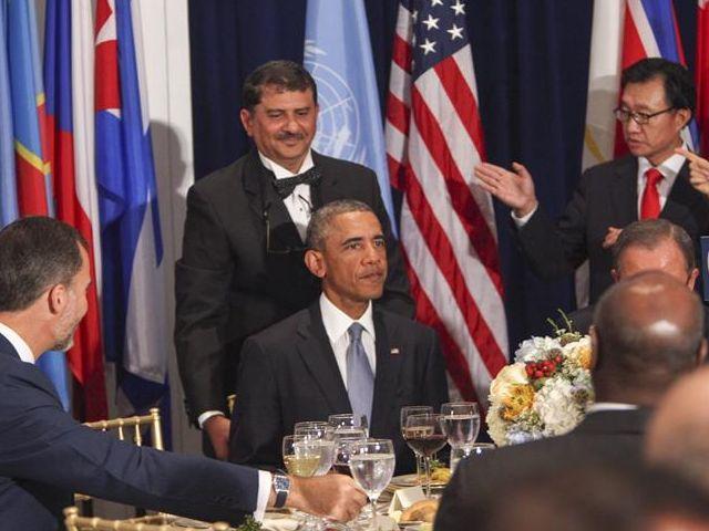 El presidente estadounidense, Barack Obama (c), asiste a un almuerzo de alto nivel en el marco de la 69 Asamblea General de la ONU hoy, miércoles 24 de septiembre de 2014, en Nueva York. Foto: EFE