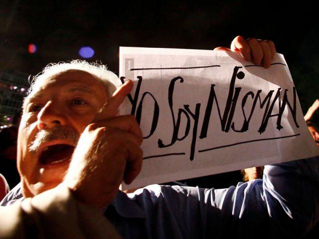 Miles de argentinos se volcaron a las calles tras la muerte del fiscal Alberto Nisman. Foto: REUTERS