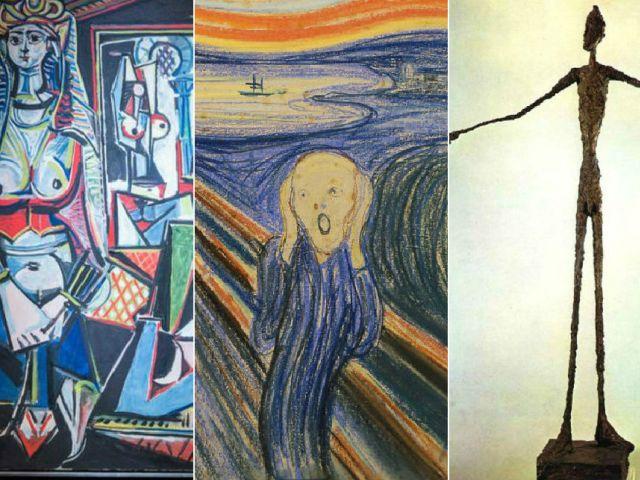 La lista cuatro pinturas de Pablo Picasso y tres esculturas de Alberto Giacometti.