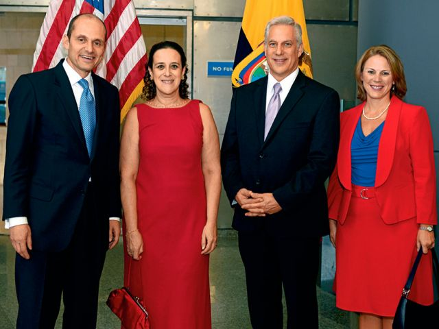 Adam Namm, Patricia Fietz, Douglas Koneff y Jennifer Brown.
