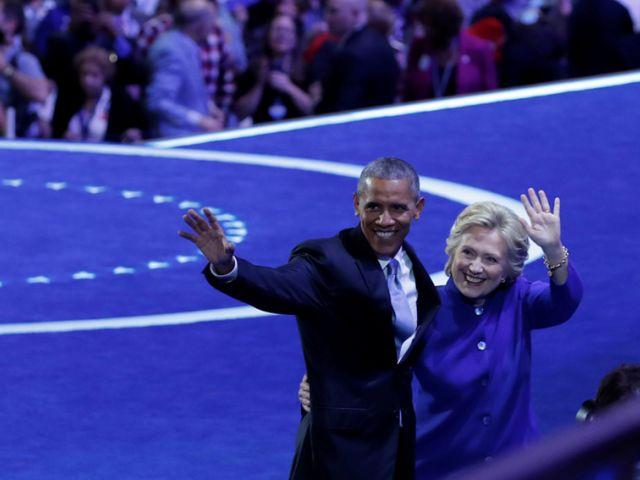 Obama confía en Clinton para llevar a los demócratas a la presidencia.. REUTERS