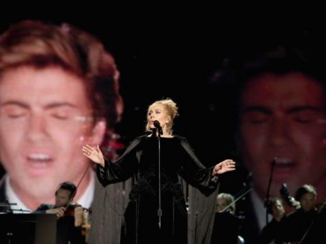 Adele en los Grammy 2017. Fotos: AFP