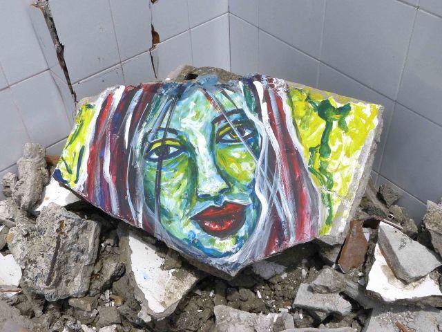 Fotos: Arte sobre escombros
