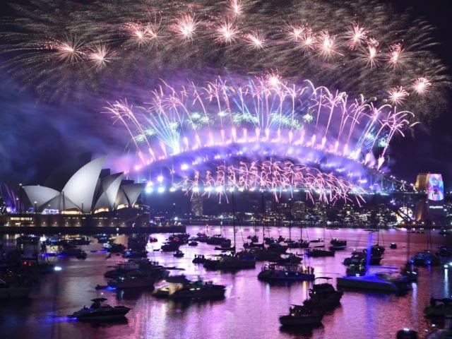 En Sidney (Australia) se recibió el año nuevo 2019 con fuegos artificiales. Foto: AFP.