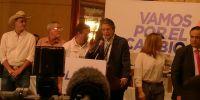 Guillermo Lasso, de CREO, expuso hoy los argumentos jurídicos de las inconsistencias en actas electorales. Foto: Cortesía Cecilio Moreno