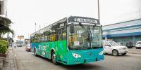 La compañía de transporte público Saucinc de Guayaquil adquirió 20 buses eléctricos.