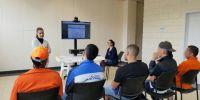en el Centro de Rehabilitación Social (CRS) Regional Sierra Centro Sur Turi, recibieron información sobre el proceso. Foto: Justicia. EC.