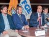 El fiscal general Carlos Baca (centro) ofreció transparencia total. Apenas inició su gestión salieron a la luz los primeros nombres de involucrados en Odebrecht. Foto: Segundo Espín