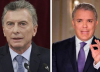Los presidentes Mauricio Macri (Argentina) e Iván Duque (Colombia) ratificaron su apoyo a Lenín Moreno.