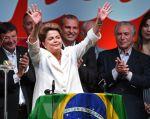 Dilma Rousseff dio un discurso en la sede de su partido. Foto: AFP / Evaristo Sa