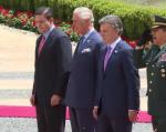 A su llegada a Bogotá, el príncipe de Gales recibió honores oficiales.