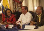Canciller Ricardo Patiño escribió el prólogo del libro. Foto: Flickr / Cancillería Ecuador