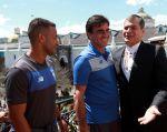 Correa recibió al equipo de Emelec en el palacio. Foto: Flickr / Presidencia de la República
