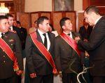 Correa saludó con los héroes durante el almuerzo. Foto: Flickr / Presidencia de la República
