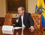 """El canciller Patiño explicó que, al conocer lo sucedido, se decidió """"sacar esa publicidad"""" y expresar disculpas al Gobierno de Costa Rica."""