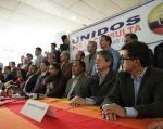 Líderes y organizaciones de oposición al Gobierno se reunieron en Quito en la sede de Pachakutik. Foto: Twitter.