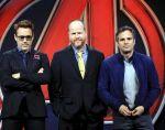 Joss Whedon con Robert Downey Jr. y Mark Ruffalo. Foto: REUTERS