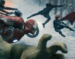 """Dos años después, los Vengadores vuelven al rescate de la Tierra y de la raza humana en """"Age of Ultron"""". Foto: Facebook / Avengers."""