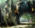 El parque temático dedicado al legendario gorila trasladará a los visitantes, tras cruzar las terroríficas puertas, a las profundidades de ese mundo selvático.  Foto: Universal Orlando.
