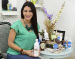 Mariaelisa Marques con su marca de cosméticos naturales Home Spa (Foto: Cesar Mera)