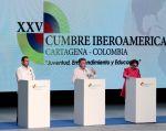 Los países iberoamericanos reiteraron su respaldo al proceso y alentaron el inminente inicio del diálogo con ELN, que se desarrollará en Ecuador. Foto: REUTERS.
