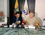 El titular del CNE dijo que la institución se compromete a revisarlo y acoger las recomendacioes. Foto: CNE.