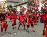 En los seis días de festejos, más de 100.000 turistas visitaron Píllaro para participar de la diablada, según estimaciones del Municipio de Píllaro en Tungurahua.  Foto: Archivo