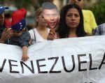 Una simpatizante de la oposición en una marcha a favor de Leopoldo López, el pasado 18 de febrero. Foto: REUTERS.