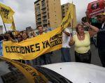 Imagen de archivo de una protesta realizada en Venezuela el 9 de febrero pasado. Foto: REUTERS.